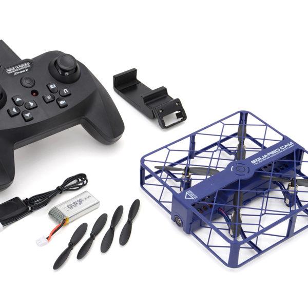 ジーフォース フルカバー ドローン GForce drone 「SQUARED CAM(スクアード・カム)」 ブルー